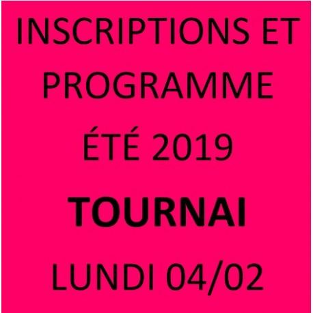 STAGES ÉTÉ  TOURNAI 2019